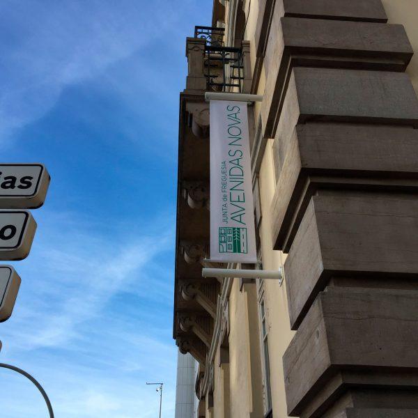 Lona Publicitária - Junta de Freguesia Avenidas Novas - RJB Publicidade