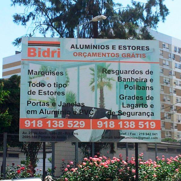 Outdoor Publicitário - Bidrialuminios - RJB Publicidade
