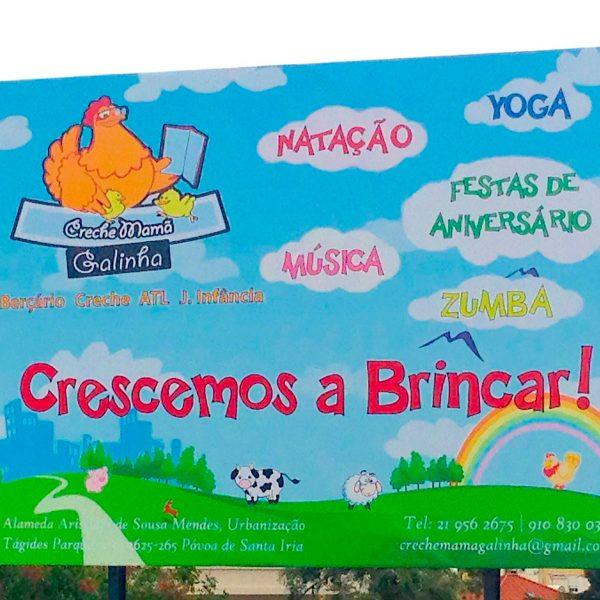 Outdoor Publicitário - Creche Mamã Galinha - RJB Publicidade