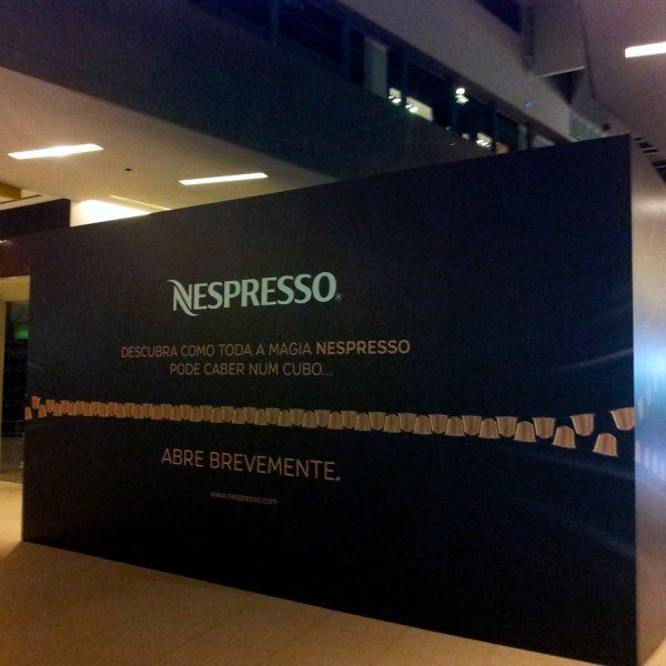 Decoração de Montras - Nespresso - RJB Publicidade