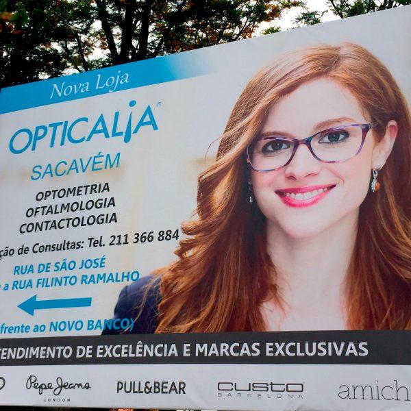 Outdoor Publicitário - Opticália - RJB Publicidade