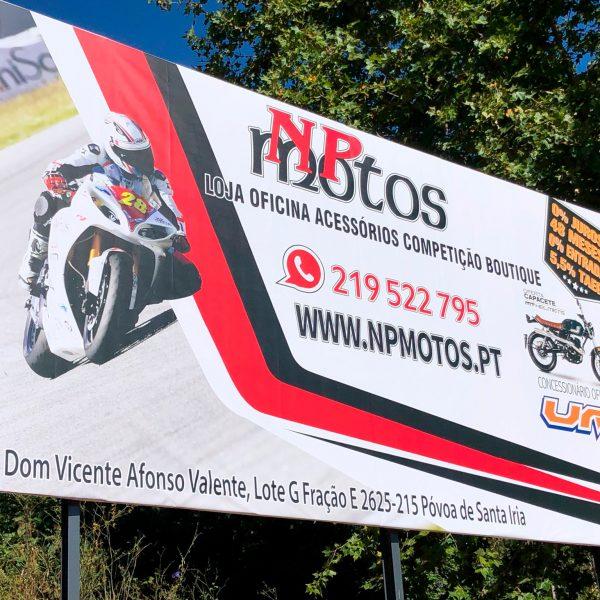 Outdoor Publicitário - NP Motos - RJB Publicidade