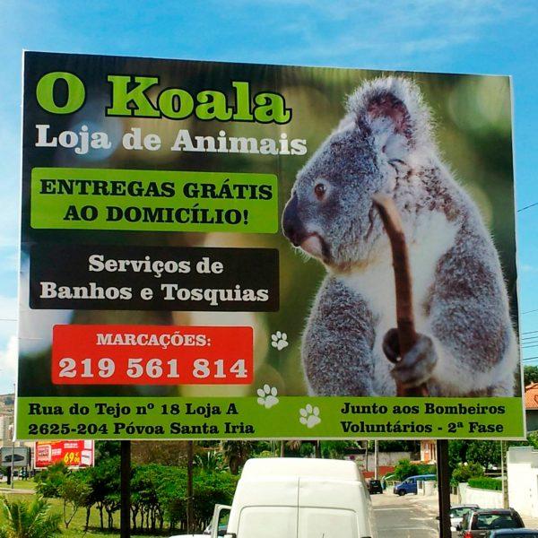 Outdoor Publicitário - O Koala - RJB Publicidade