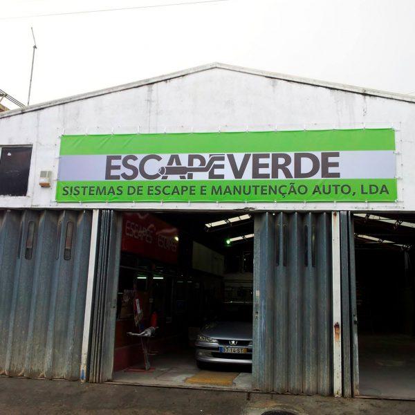 Lona Publicitária - Escapeverde - RJB Publicidade