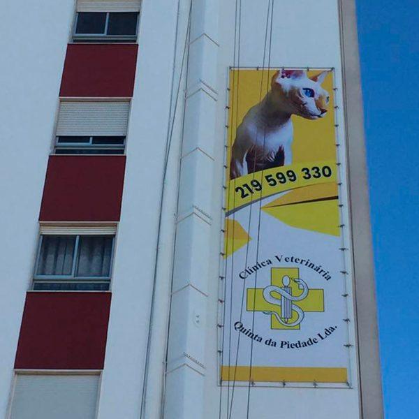 Lona Publicitária - Clinica Veterinária - RJB Publicidade